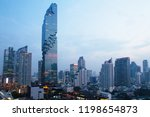 bangkok city in evening... | Shutterstock . vector #1198654873