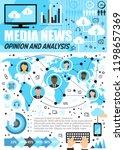 media news analysis...   Shutterstock .eps vector #1198657369