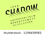 long shadow style font ... | Shutterstock .eps vector #1198658983