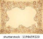 vintage style beige colors... | Shutterstock . vector #1198659223