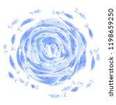 blue watercolor style little... | Shutterstock . vector #1198659250
