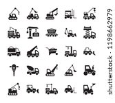 heavy machinery glyph vector... | Shutterstock .eps vector #1198662979