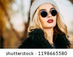 autumn fashion shot. trendy... | Shutterstock . vector #1198665580