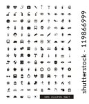 black silhouettes icons over...   Shutterstock .eps vector #119866999