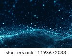 Abstract Blurry Dots Background