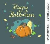 happy halloween greeting card... | Shutterstock .eps vector #1198672630