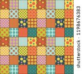 patchwork background with... | Shutterstock .eps vector #1198676383
