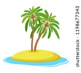 island with coconut palm trees... | Shutterstock .eps vector #1198677343