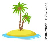 island with coconut palm trees... | Shutterstock .eps vector #1198677370