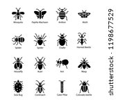 pest insect icons | Shutterstock .eps vector #1198677529