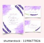 floral wedding invitation card... | Shutterstock .eps vector #1198677826