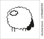 cute doodle sheep | Shutterstock .eps vector #1198680550