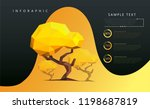 eco infographics with low poly... | Shutterstock .eps vector #1198687819