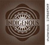 indigenous realistic wood emblem   Shutterstock .eps vector #1198689049