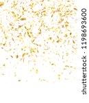 gold shining realistic confetti ... | Shutterstock .eps vector #1198693600