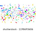 red blue green yellow glowing... | Shutterstock .eps vector #1198693606