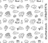seamless pattern with cute hand ... | Shutterstock .eps vector #1198695976
