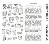 post office doodle  card... | Shutterstock .eps vector #1198696066