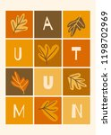 autumn design with colorful... | Shutterstock .eps vector #1198702969