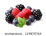 Fresh berry in closeup - stock photo