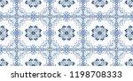 talavera pattern.  azulejos... | Shutterstock .eps vector #1198708333