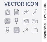 outline 12 sheet icon set.... | Shutterstock .eps vector #1198713706