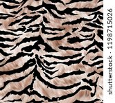 Seamless Tiger Print Pattern...