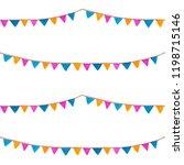 seamless pattern. watercolor... | Shutterstock . vector #1198715146