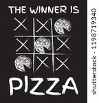 the winner is pizza. vector... | Shutterstock .eps vector #1198719340