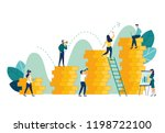 vector illustration  investment ... | Shutterstock .eps vector #1198722100