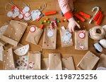 preparing the advent calendar....   Shutterstock . vector #1198725256