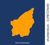 san marino map   high detailed... | Shutterstock .eps vector #1198725640