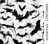 bats seamless pattern... | Shutterstock .eps vector #1198726846