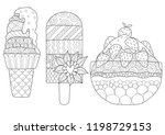 zentangle stylized variety of... | Shutterstock .eps vector #1198729153