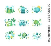 eco related symbols set ... | Shutterstock .eps vector #1198730170