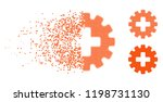 plus gear icon in disappearing  ... | Shutterstock .eps vector #1198731130