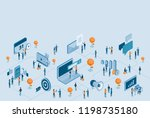 isometric design for business... | Shutterstock .eps vector #1198735180