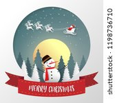 merry christmas and happy new... | Shutterstock .eps vector #1198736710
