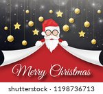 merry christmas and happy new... | Shutterstock .eps vector #1198736713