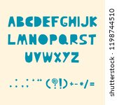carved alphabet and punctuation ... | Shutterstock .eps vector #1198744510