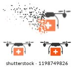 medical drone shipment icon in... | Shutterstock .eps vector #1198749826