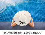 summer vacation concept  asian... | Shutterstock . vector #1198750300