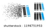 library icon in disappearing ... | Shutterstock .eps vector #1198751953