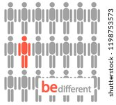 be different  unique  one of... | Shutterstock .eps vector #1198753573