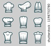 chef hats object illustration... | Shutterstock .eps vector #1198753780