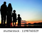 silhouette family  including... | Shutterstock . vector #1198760329