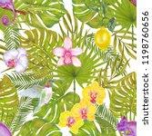 watercolor marker tropical... | Shutterstock . vector #1198760656