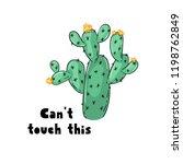 cactus print design | Shutterstock .eps vector #1198762849
