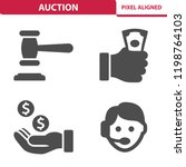 auction icons. professional ... | Shutterstock .eps vector #1198764103