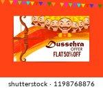 happy dussehra offer background ... | Shutterstock .eps vector #1198768876